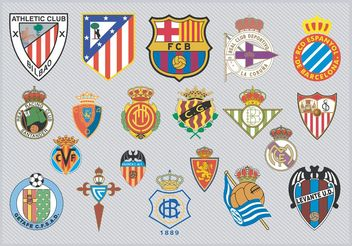 Spanish Football Team Logos - vector #148237 gratis