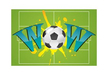 Wow With Soccer Ball - vector #148267 gratis