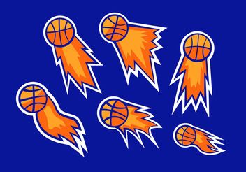 Basketball On Fire Vectors - Free vector #148317