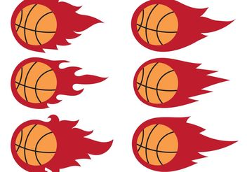 Basketball on Fire Vectors - Free vector #148347