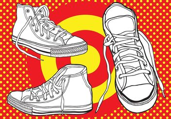 Basketball Shoes - бесплатный vector #148357