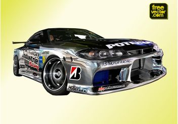 Nissan Silvia sports Coupe - vector gratuit #148387