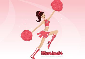 Free Cheerleader With Pom Poms Vector Background - Kostenloses vector #148447