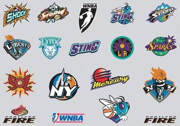 NBA Team Logos 2. - vector #148527 gratis