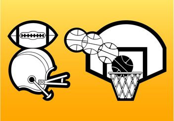 Sport Stickers - vector #148537 gratis