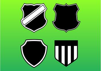 Shield Set - vector #148547 gratis