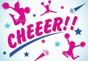 Cheerleading Backgrounds 2 - Free vector #148567