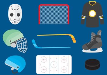 Hockey Vector Icons - Free vector #148627