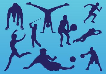 Sport People - vector gratuit #148637