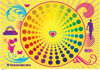 Colorful Life Vector - Free vector #148687