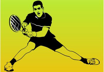 Tennis Player Vector - Free vector #148787