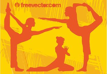Yoga Girls Vector - vector #148807 gratis