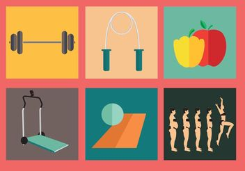 Diet and Exercise Vectors - Free vector #148827