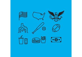 Made In USA Vectors - vector gratuit #148867