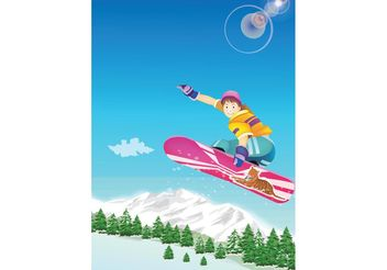 Snowboard Kid - Free vector #148897