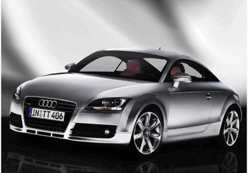 Silver Audi TT Wallpaper - vector #148947 gratis