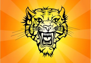 Tiger Tattoo Vector - Free vector #148967