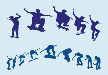 Jumping Skaters - Free vector #149057