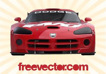 Dodge Viper Front View - vector gratuit #149107