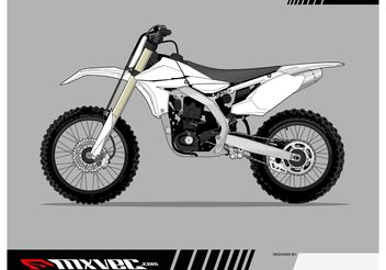 Motocross Bike Vector Template - Free vector #149117