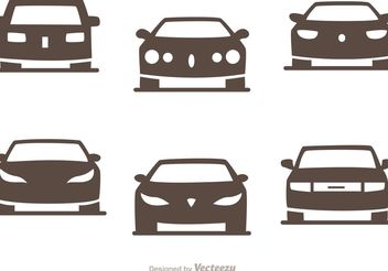 Cars Silhouette Vector Pack of Sedans - Free vector #149137