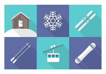 Free Vector Wintersport Icons - Free vector #149157