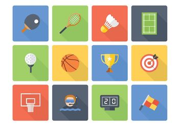 Free Flat Sport Vector Icons - vector gratuit #149177