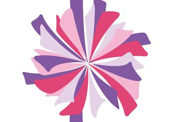 Isolated Pink Pom Pom Vector - Kostenloses vector #149197