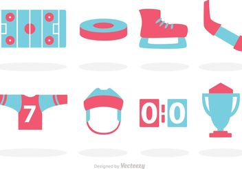 Hockey Vector Icons - Free vector #149227
