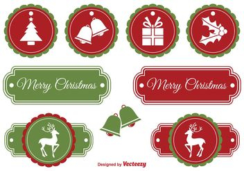 Christmas Labels - vector gratuit #149237