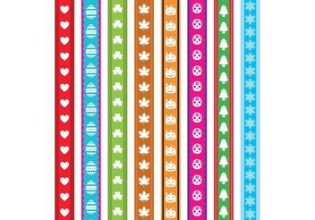 Holiday Ribbon Vectors - vector gratuit #149247