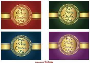 Christmas Vector Labels - Kostenloses vector #149267