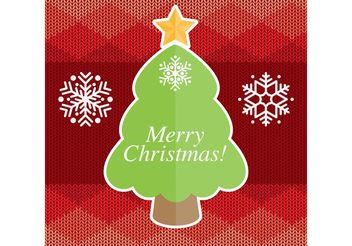 Christmas Tree Vector Card - Free vector #149297