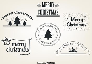 Free Christmas Vector Elements - Kostenloses vector #149337
