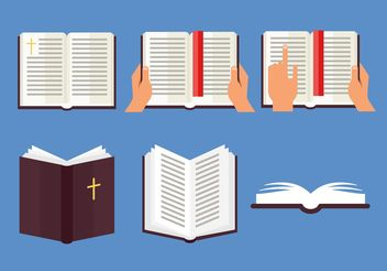 Open Bible Vector Set - Free vector #149377