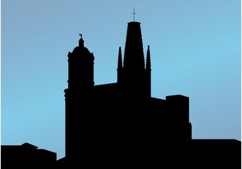 Church Silhouette - vector gratuit #149447