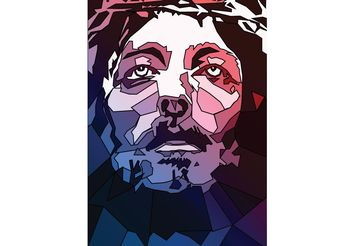 Jesus Stained Glass Vector - Free vector #149467