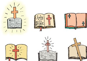 Free Open Bible Vector Series - Free vector #149477