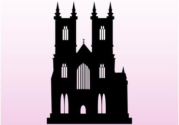 Silhouette Church - vector gratuit #149497
