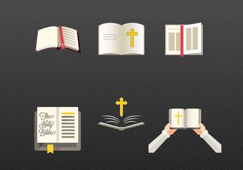 Reading the Bible Vectors - vector gratuit #149507