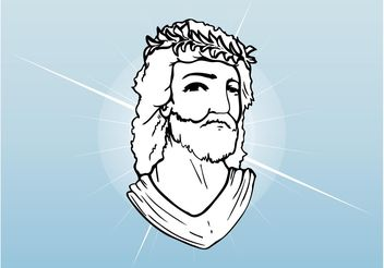 Jesus Christ Face - Free vector #149517