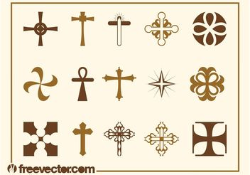 Crosses Set - vector gratuit #149537