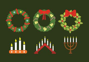 Advent wreath collection - бесплатный vector #149707