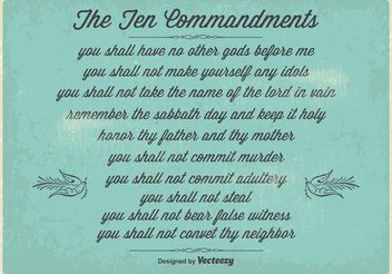 Vintage Ten Commandments Poster - бесплатный vector #149727
