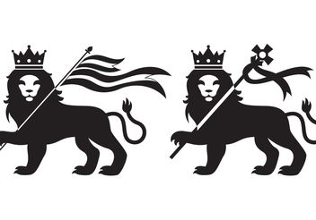 Lions Of Judah - Free vector #149737