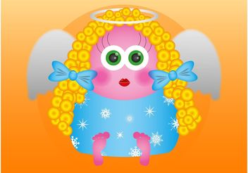 Cartoon Angel - vector gratuit #149807