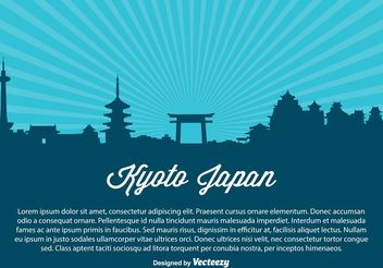 Kyoto Japn Skyline Illustration - vector #149817 gratis
