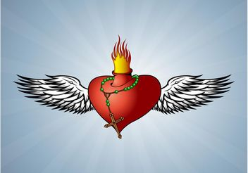 Heart On Fire - Free vector #149837