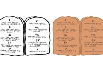 Free 10 Commandments Vector - vector #149917 gratis