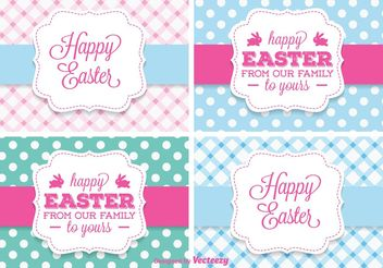 Cute Easter Vector Labels - Free vector #149977